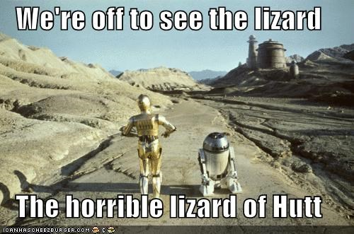 We're Off To See The Lizard...