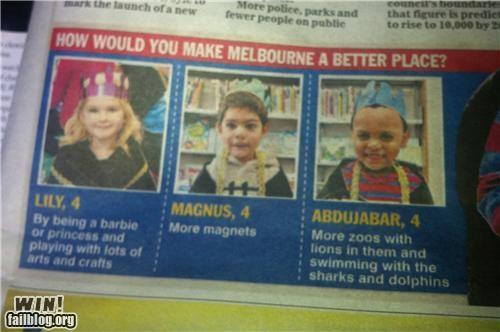 completely relevant news,ideas,interview,little kids,oh australia