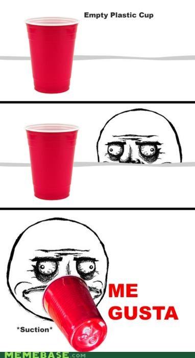 cup,me gusta,plastic,Rage Comics,suction