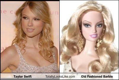 Taylor Swift Totally Looks Like Old Fashioned Barbie