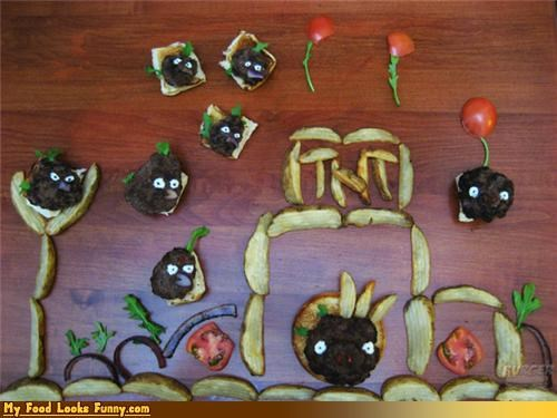 angry birds,art,burgers,game,pickles,table,video game