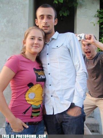 Awkward,camera,couple,from behind