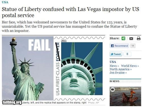 Probably Bad News: Statue of Liberty FAIL