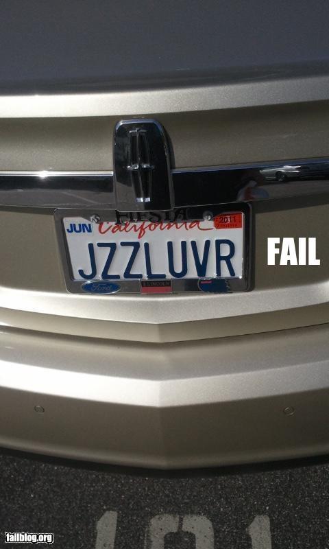License Plate FAIL