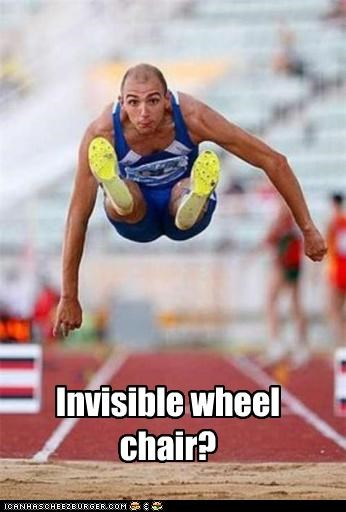 Invisible wheel chair?