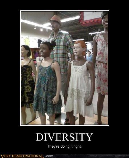 diversity,mannequin,racist