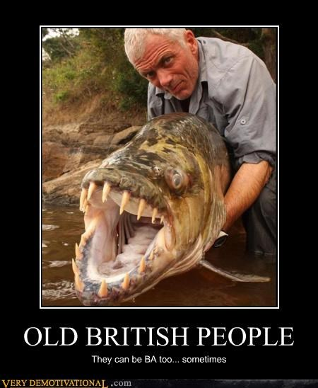 brits,river fishing,tough old geezer