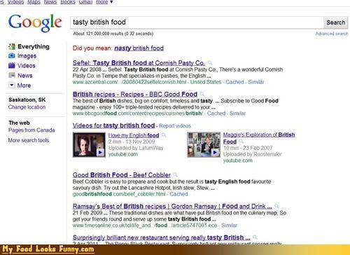 google,nasty,search british food,tasty