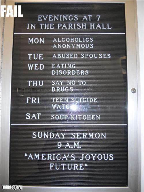 Church Curriculum Fail
