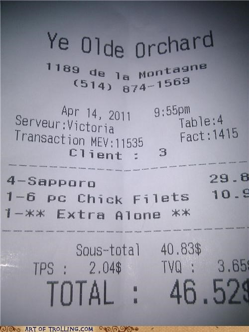 alone,receipt,Sad
