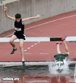 failboat,g rated,hurdles,ouch,sports,track-field,water
