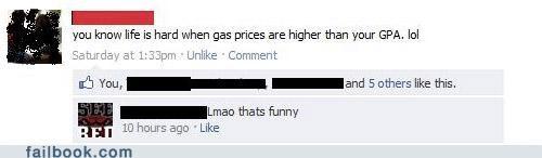 gas prices,gpa,lol,status