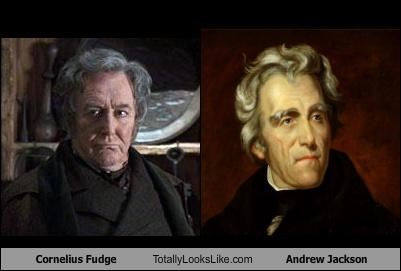 Cornelius Fudge (Robert Hardy) Totally Looks Like President Andrew Jackson