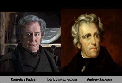 Cornelius Fudge (Robert Hardy) Totally Looks Like President Andrew Jackson