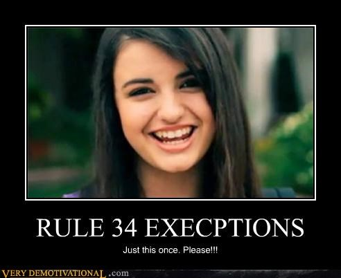 RULE 34 EXECPTIONS