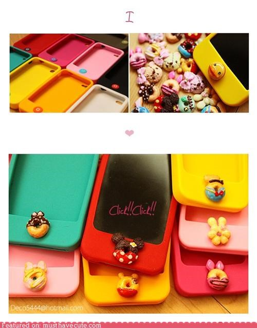 Disney Donut Button iPod Case