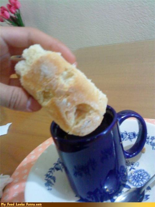 bread,coffee,dunk,face,hot tub,noooo,screaming,terrified