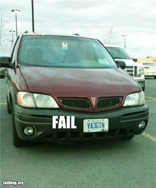 Franglish License Plate FAIL