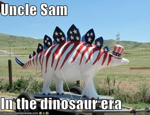 Uncle Sam  In the dinosaur era