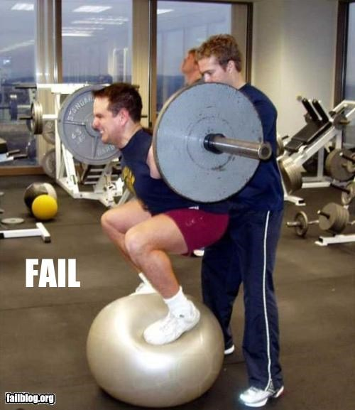 bad idea,balls,failboat,g rated,gym,safety,weights,working out,yoga balls