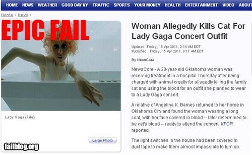 Probably Bad News: Lady Gaga fan FAIL