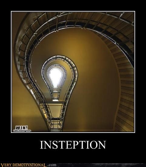 Inception,light bulb,steps