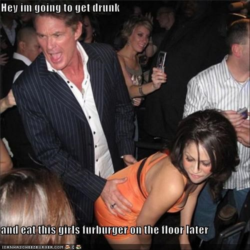 Hey im going to get drunk  and eat this girls furburger on the floor later