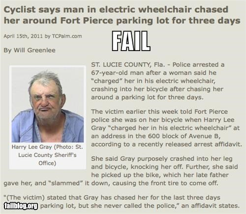 Probably Bad News: Wheelchair Chase FAIL