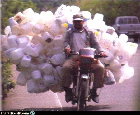 milkman,motorcycle,overkill,towing