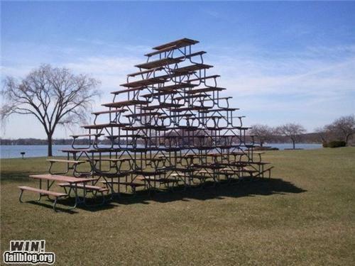balance,picnic table,stacking,tabels