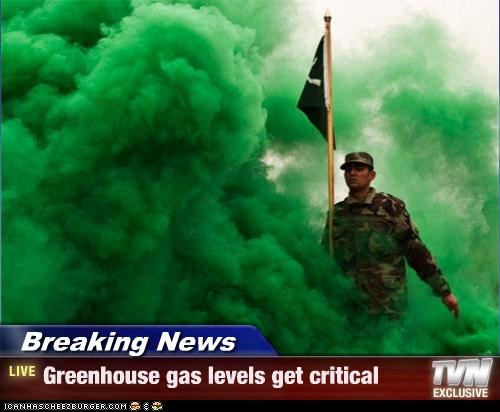 Breaking News - Greenhouse gas levels get critical