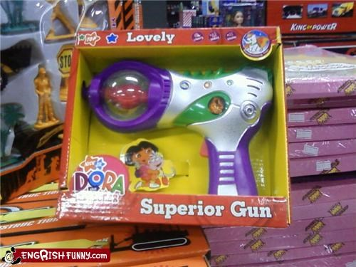 dora,engrish,gun,toy