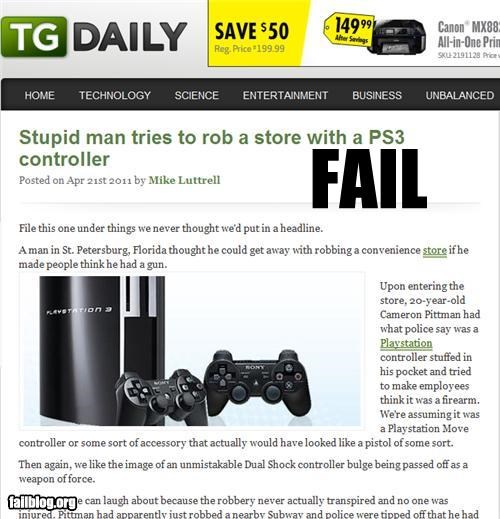 failboat,playstation,Probably bad News,robbery,thievery,video games