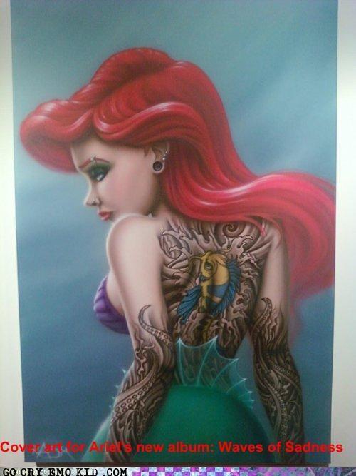 ariel,little mermaid,pun,wtf