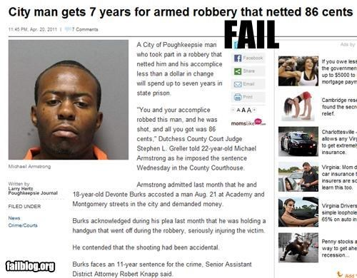Probably Bad News: Armed Robbery FAIL