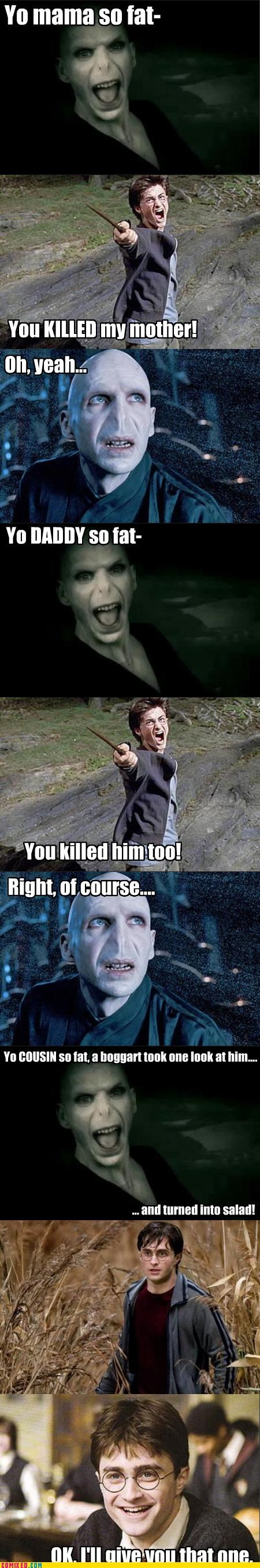 Voldemort Tells a Pretty Good Joke...