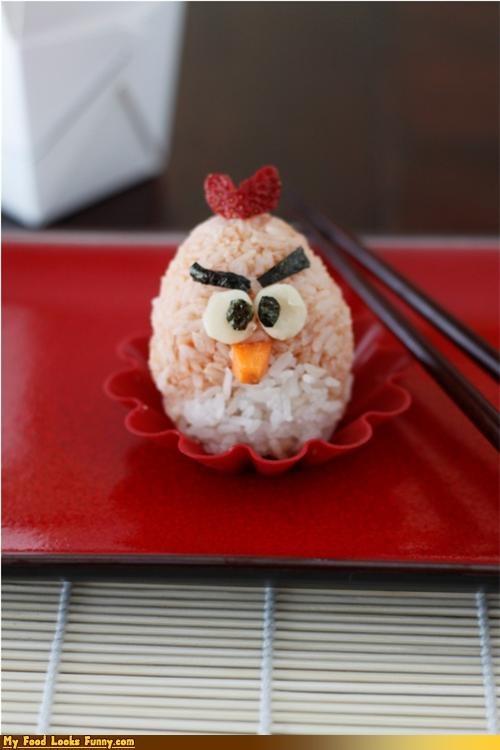angry birds,bird,onigiri,red,rice,sushi