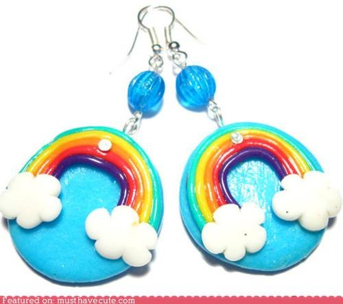 accessories,beads,clouds,earrings,Jewelry,rainbows