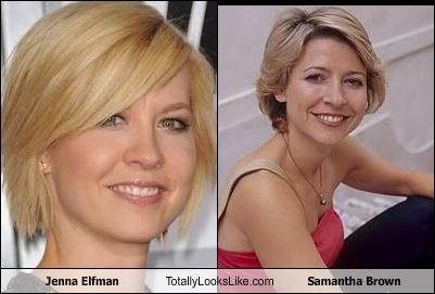 Jenna Elfman Totally Looks Like Samantha Brown