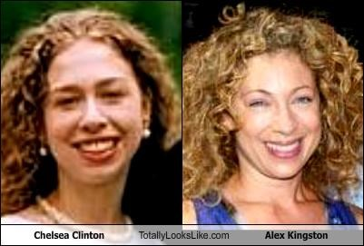 Chelsea Clinton Totally Looks Like Alex Kingston