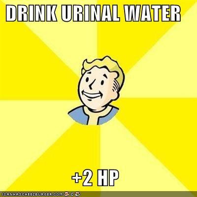 DRINK URINAL WATER  +2 HP