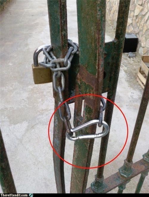 chain,FAIL,locked up,stupidity