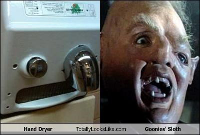 "Hand Dryer Totally Looks Like Sloth From ""The Goonies"""