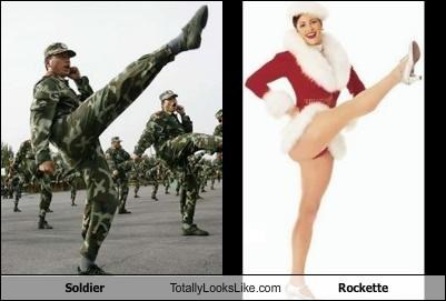 Soldier Totally Looks Like Rockette