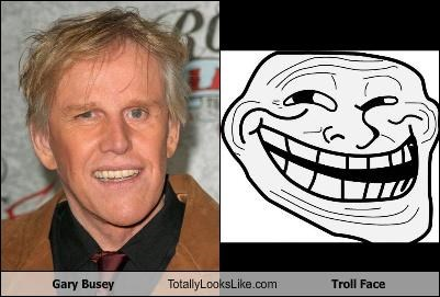 Gary Busey Totally Looks Like Troll Face
