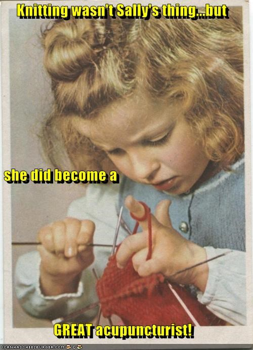 Knitting Wasn't Sally's Thing...