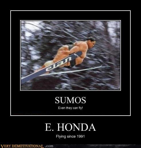 e honda,skiing,sumo,wrestler