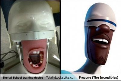 Dental School Training Device Totally Looks Like Frozone (The Incredibles)
