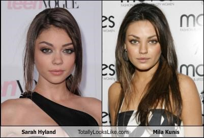 Sarah Hyland Totally Looks Like Mila Kunis