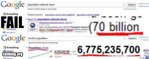 Playstation Network User Count Fail